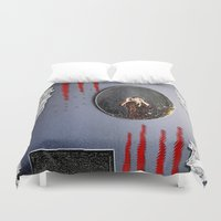mirror Duvet Covers featuring Mirror Mirror by Pepita Selles