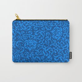 Blue Tudor Damask Carry-All Pouch