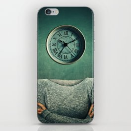clock head iPhone Skin