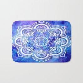 Mandala Blue Lavender Galaxy Bath Mat