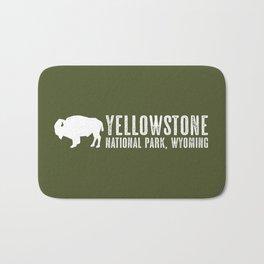 Bison: Yellowstone National Park Bath Mat