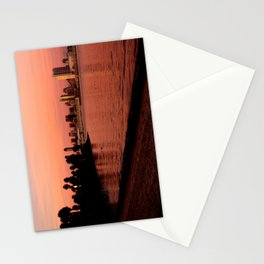 San Diego Skyline in Pink Stationery Cards