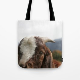 Look who's complaining, funny goat photo Tote Bag
