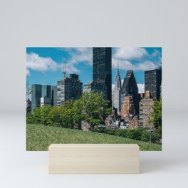 Midtown apartment buildings on east riverside view from Roosevelt Island Mini Art Print