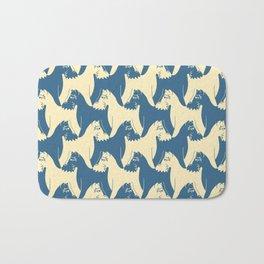 Dog Pattern | Schnauzer | M. C. Escher Inspired Artwork by Tessellation Art Bath Mat