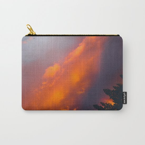 Bend Oregon: sunset & rainbow Carry-All Pouch
