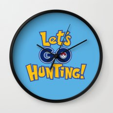 Let's Go Hunting! Wall Clock
