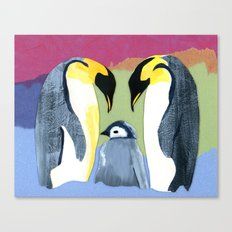 Penguin love Canvas Print