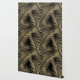 Palm Leaves - Gold Cali Vibes #2 #tropical #decor #art #society6 Wallpaper