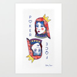 Poker Face Art Print