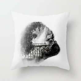 Sookie and the bridge No.2 Throw Pillow
