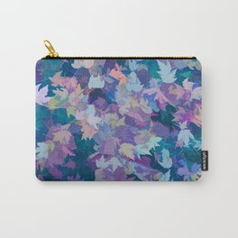 Autumn Leaves (blue, cyan, pink, orange, purple) Carry-All Pouch