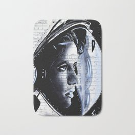 The First mother in space  Anna Lee Fisher Bath Mat