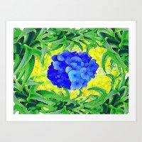 brasil Art Prints featuring Brasil Flag by Jess Batista