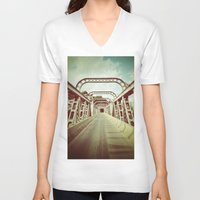 bridge V-neck T-shirts featuring Bridge by César Ovalle