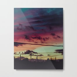 Twilight Hues Metal Print