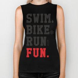 Triathlon & Triatlon. Swim, bike and run Biker Tank