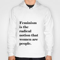 feminism Hoodies featuring Feminism  by Illustrated by Jenny