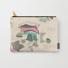 Vintage Leaves Carry-All Pouch