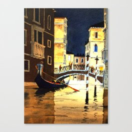 Evening In Venice Italy Canvas Print