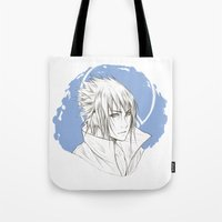 sasuke Tote Bags featuring Sasuke by ilaBarattolo