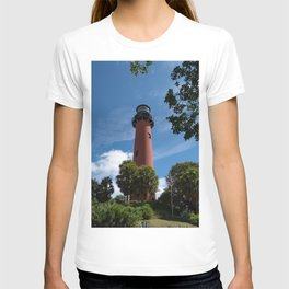 Jupiter Lighthouse 2 Color Coastal Landscape Photograph T-shirt