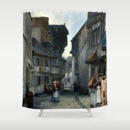 Johan Barthold Jongkind A street in Landerneau Shower Curtain