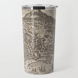 Vintage Map of Catania Italy (1597) Travel Mug