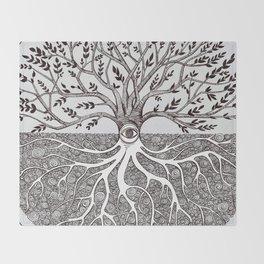 Tree of Life as above so below Throw Blanket