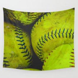 A Bucket Full of Softballs Wall Tapestry