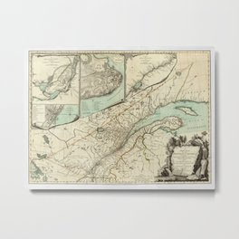 Map of Quebec 1776 Metal Print
