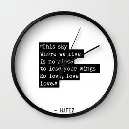 Hafez Persian quote Wall Clock