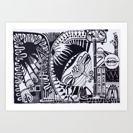 B&W A 3 Art Print