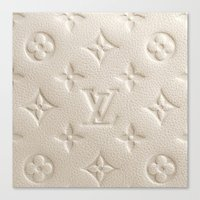 lv Canvas Prints featuring LV Cream by Beauti Asylum