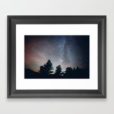 stargazing in the rockies .  Framed Art Print