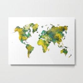 World Map 2038 Metal Print