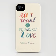 All I Want Is Boundless Love iPhone (4, 4s) Slim Case