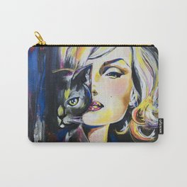 Marilyn and her cat Carry-All Pouch