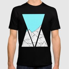 Glacier Mounts Mens Fitted Tee MEDIUM Black