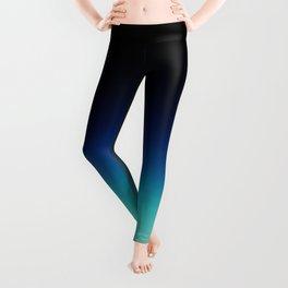 Blue Gray Black Ombre Leggings