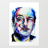 dreamer Art Prints featuring Dreamer by KlarEm