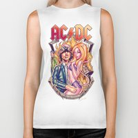 acdc Biker Tanks featuring Highway to ACDC by Renato Cunha