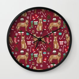 Australian Cattle dog christmas presents stockings candy canes winter dog breed lover Wall Clock