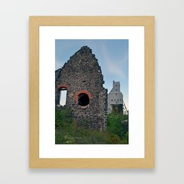 Quincy Hill Mine Shaft and Ruins Framed Art Print