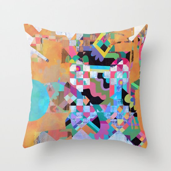 Senet Throw Pillow