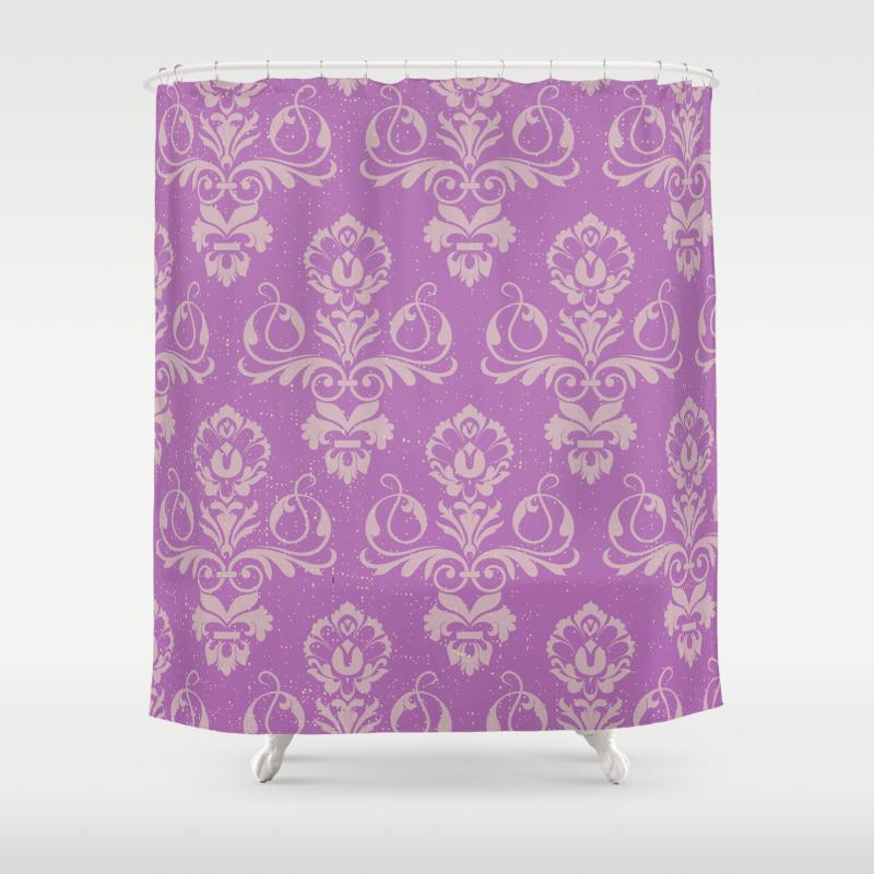 Purple Damask Shower Curtain By Wandastar Society6