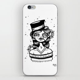 Top Hat Girl iPhone Skin