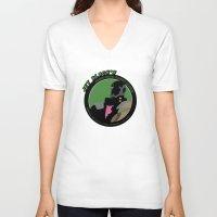 bebop V-neck T-shirts featuring Bebop Jet by AngoldArts