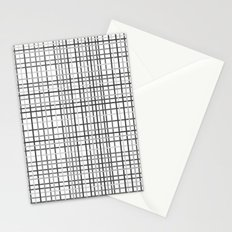 Weave Black and White Stationery Cards