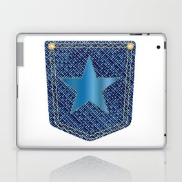 Star Denim Pocket Laptop & iPad Skin